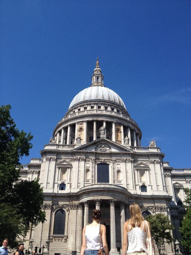 St Paul's, on another beautiful day like today.