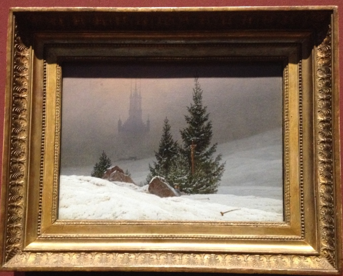 Caspar David Friedrich's Winter Landscape made us think of Christmas.