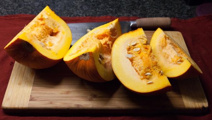 Chopped up pumpkin
