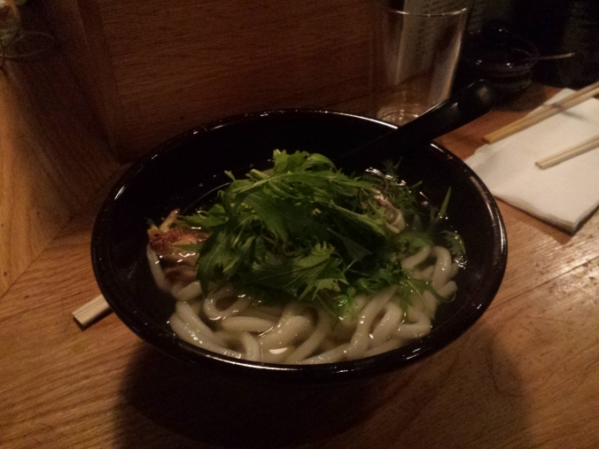 Pork and miso udon