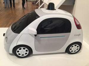 A prototype of Google's self-driving car.